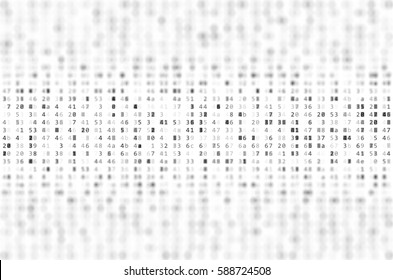 Abstract Data Background with DOF Effect. Binary Computer Code. Programming / Coding / Hacker concept. Background Illustration.