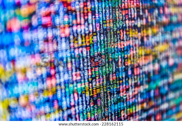 Abstract data bits stream background. Digital cyber pattern.