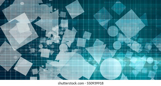 Abstract Data Concept with Random Shapes as Art