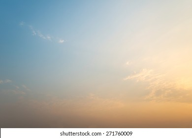 Abstract dawning warm color sky background