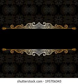 Abstract decoration, lace frame border pattern, ethnic ornamental background, invitation card design, hand drawn artwork, raster version