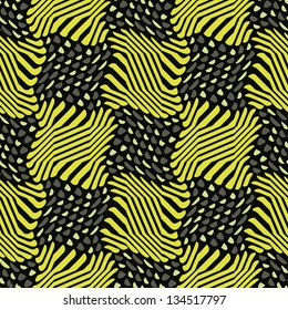 Abstract decorative berry glade print. Seamless pattern.
