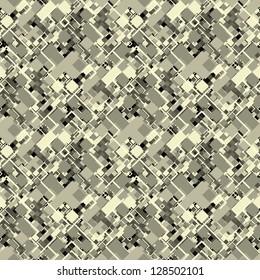 Abstract decorative city map geometric ornament. Seamless pattern.
