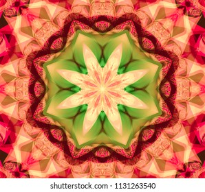 Abstract decorative colored texture. Kaleidoscopic illustration. Seamless pattern.