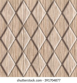 Abstract decorative tiles - seamless background - Blasted Oak Groove wood surface - Interior Design wallpaper - Fine natural structure - Continuous replication - Repeating geometric pattern