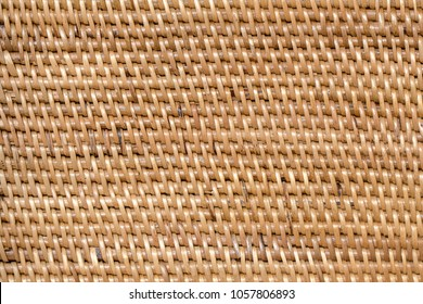 Abstract decorative wooden textured basket weaving. Basket texture background, close up