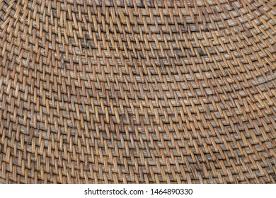 Abstract decorative wooden textured basket weaving. Basket texture background, close up. Abstract natural wicker horizontal background or texture