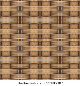 Abstract decorative wooden textured weaving backgroound. Seamless pattern. Illustration.