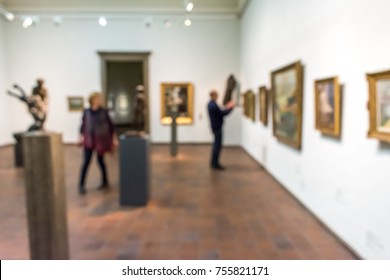 abstract defocused blur art gallery exhibition background usage display