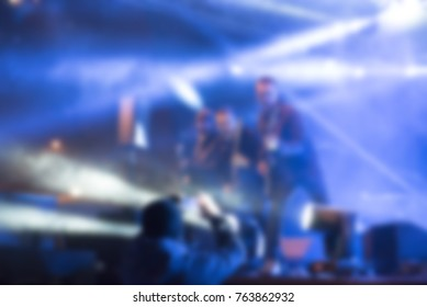 Abstract defocused with blur and bokeh in concert  for background