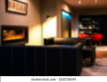Abstract defocused with blur and bokeh inliving room interior for background