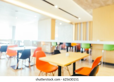 Abstract defocused and blur restaurant interior for background