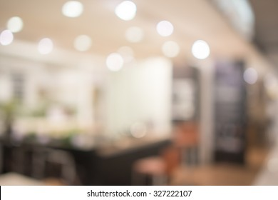 Abstract defocused blurred background blur image of kitchen dining room
