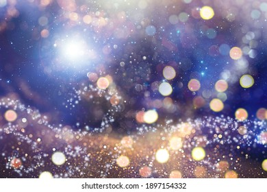 Abstract Defocused Christmas Background - Shiny Glitter With Blurred Lights