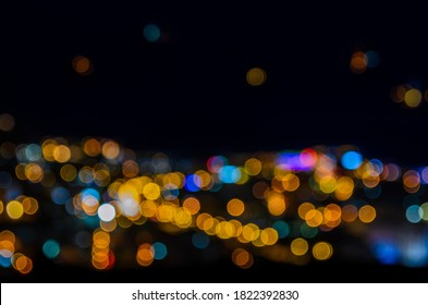 Abstract defocused circular bokeh background