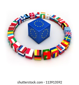 Abstract demonstration of greece as member of the european union