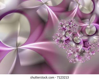 abstract design background rendered from fractal