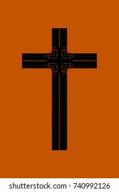 abstract design of a Christian cross