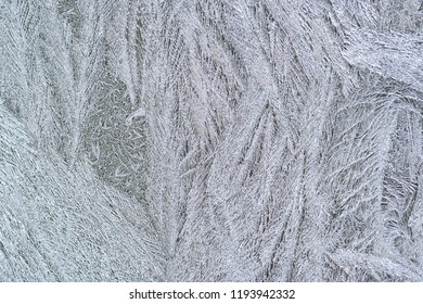 Abstract detail of the frost flower on the window
