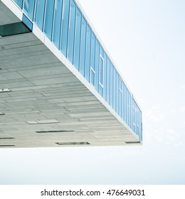 Abstract Detail Of Modern Contemporary Glass Architecture With Copy Space