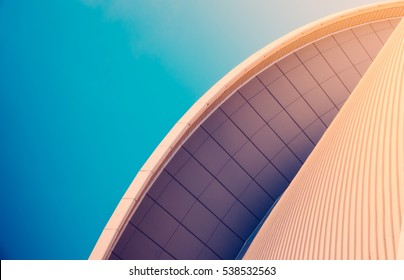 Abstract Detail Of Sleek Modern Contemporary Architecture With Copy Space
