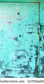 Abstract detailed blue metal background wall texture with seam