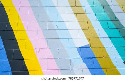 Abstract diagonal painted color pattern