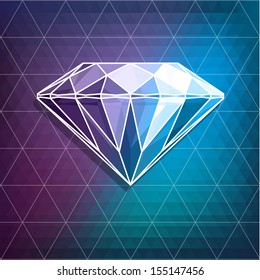 Abstract diamond background  - raster version