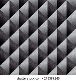 Abstract diamond pattern - checkered decorative style - Interior wall panel - seamless background - leather texture