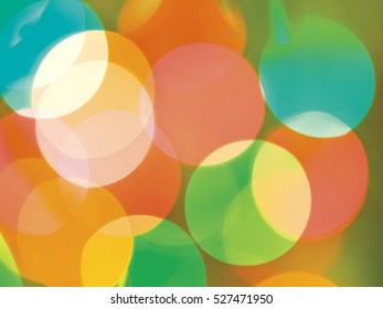 Abstract diffused festive holiday background of Christmas lights