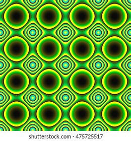 Abstract digital  background with green squares