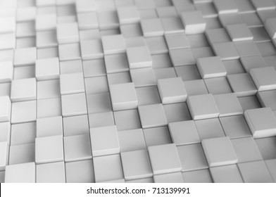 Abstract digital background mad of 3d cubes. 3d render