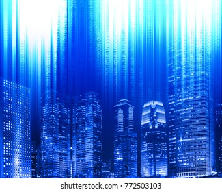 Abstract Digital city background