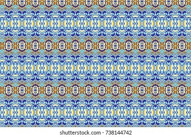 Abstract digital fractal pattern. Horizontal orientation. Abstract vintage ornamental texture.