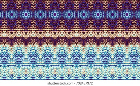 Abstract digital fractal pattern. Abstract vintage ornamental texture. Symmetric decorative ornament pattern in Art Nouveau style.