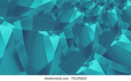 Abstract digital geometrical pattern. Horizontal orientation.  Geometric futuristic image.