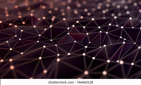 Abstract digital network background, 3d illustration