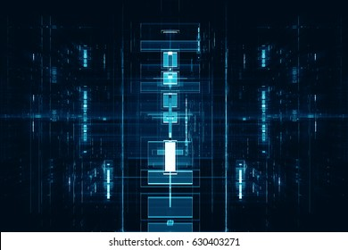 Abstract digital technological background