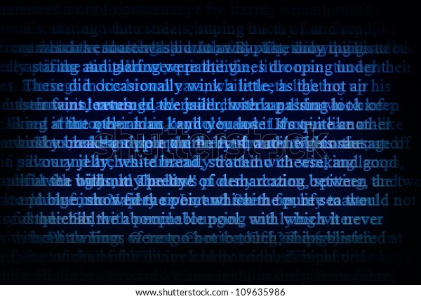 abstract digital text on a screen