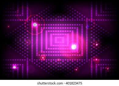 Abstract disco dance colored background. Purple and blue color theme. For web design, presentations, wallpapers.