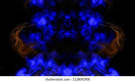 Abstract distorted background of an unknown creature. Color image with blue and black. Effect of 3D. Are placed in the offices of a psychologist. Oscillation, Recognize and Stylish.