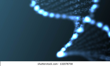 Abstract DNA, futuristic molecule, cell illustration.