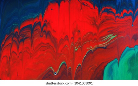 Abstract drips color splash background,design made of liquid paint pattern