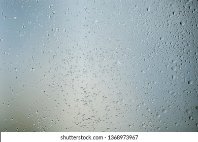 abstract drops glass background / texture fog rain, seasonal background, clear glass with water