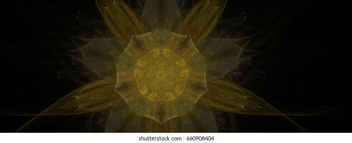 Abstract dye fabric art background in illustration space geometry. Background consists of fractal multicolor texture and is suitable for use in projects on imagination, creativity and design.