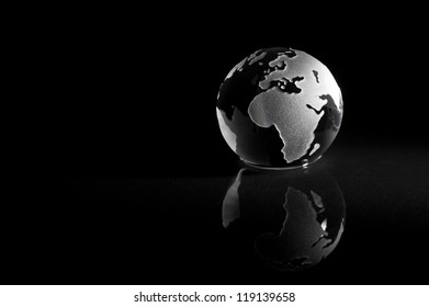 Abstract earth globe with reflection