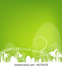 an abstract easter design in square format