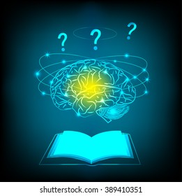 Abstract electric circuit brain thinking concept