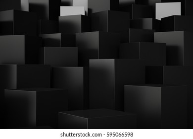 Abstract Elegant Cube Background, 3D Rendering
