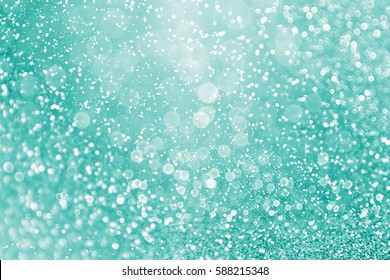 Abstract elegant teal green glitter sparkle confetti background for turquoise happy birthday party invite, aqua mint wedding celebration poster, Christmas bokeh dream gala pattern or holiday texture